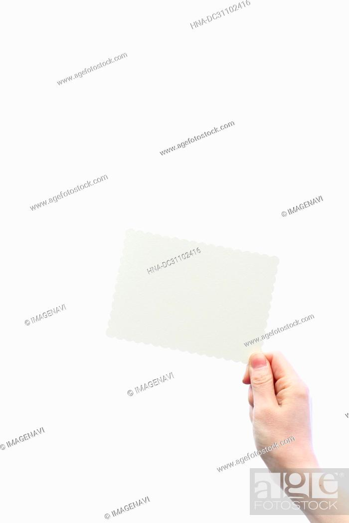 Stock Photo: Woman Hand Holding Message Board.