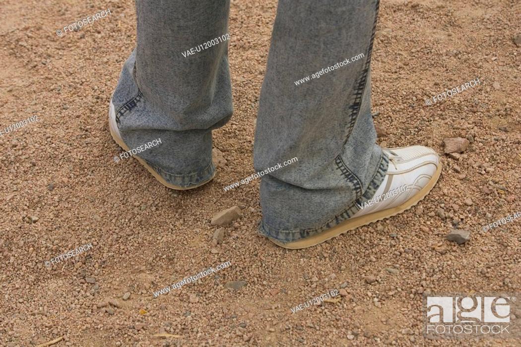 Stock Photo: Close-Up, Day, Human Foot, Human Leg.