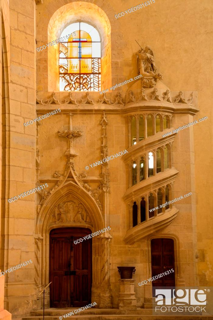 Stock Photo: Cathedral Saint Cyr and Sainte Julitte, Nevers, Nievre, France.