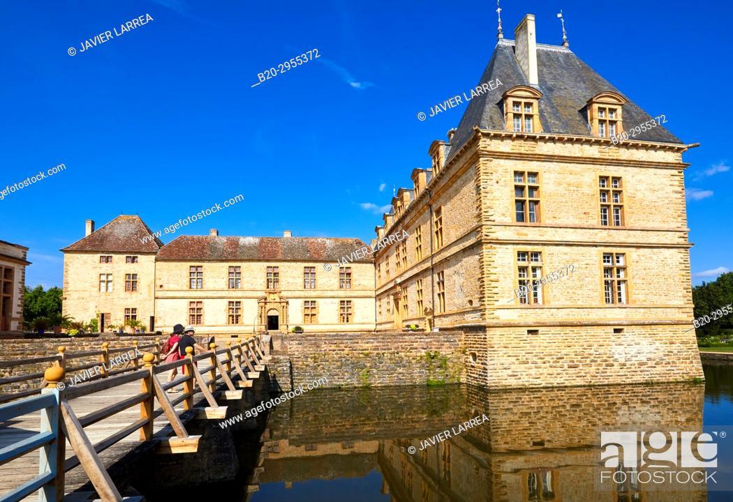 Stock Photo: Castle of Cormatin, Saone-et-Loire Department, Burgundy Region, Maconnais Area, France, Europe.