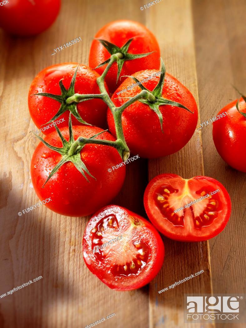 Stock Photo: Jubilee vine tomatoes.