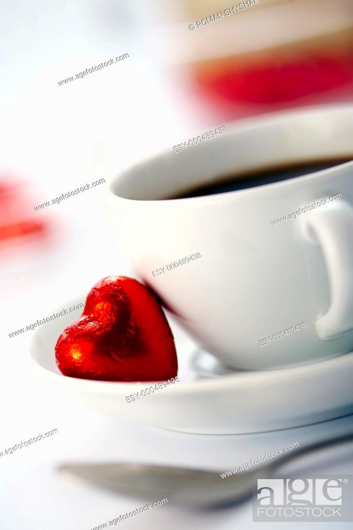 Stock Photo: A cup of coffee.