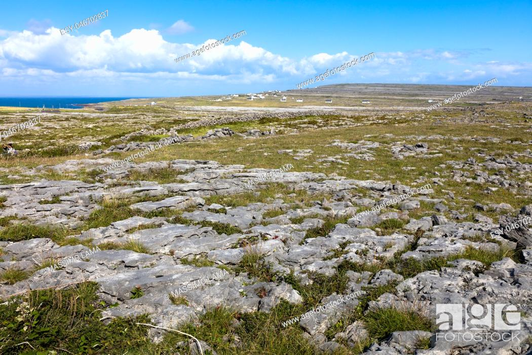 Stock Photo: Typical panorama in Inish more, the biggest of Aran Islands, Ireland.