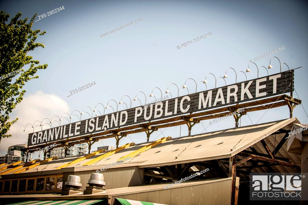 Stock Photo: Granville Island Public Market, Vancouver, BC, Canada.