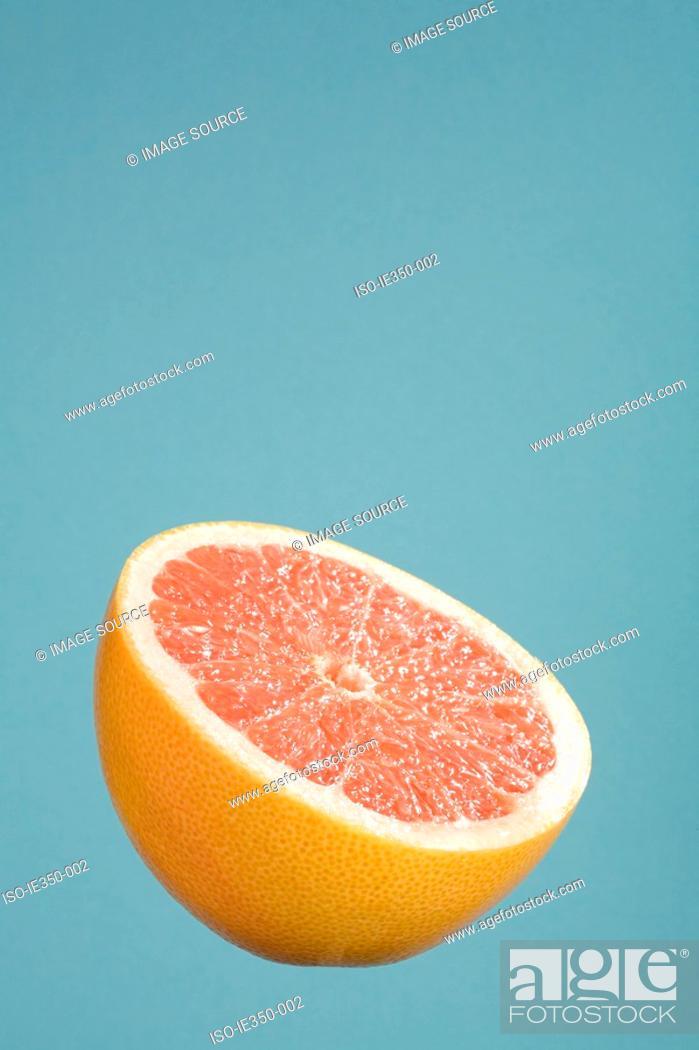 Stock Photo: Half a grapefruit.
