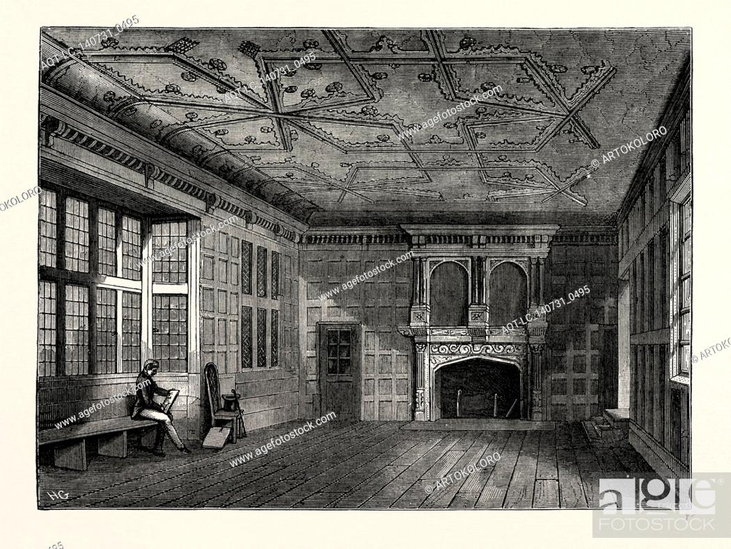 Stock Photo: THE STAR CHAMBER, 1836, London, UK, 19th century engraving.