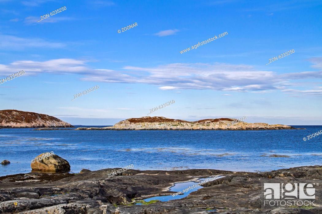 Stock Photo: Norwegische Atlantikküste zwischen Afjord und Namsos.