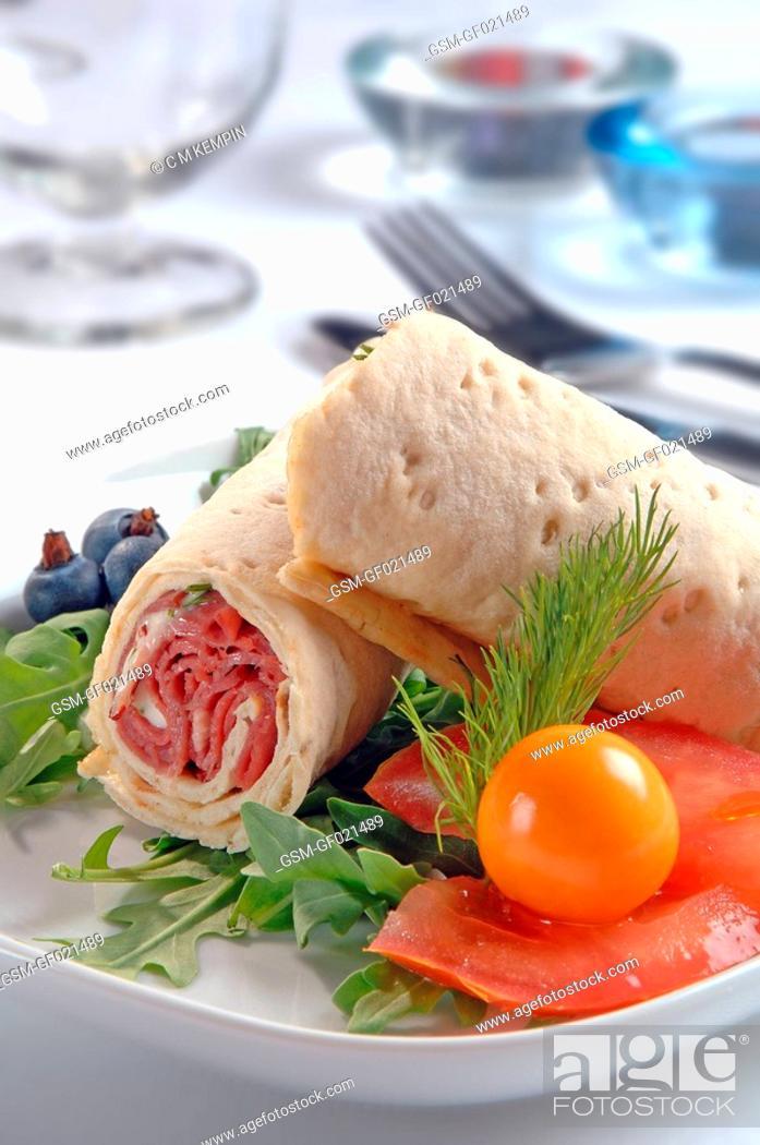 Photo de stock: Artic bread roll.