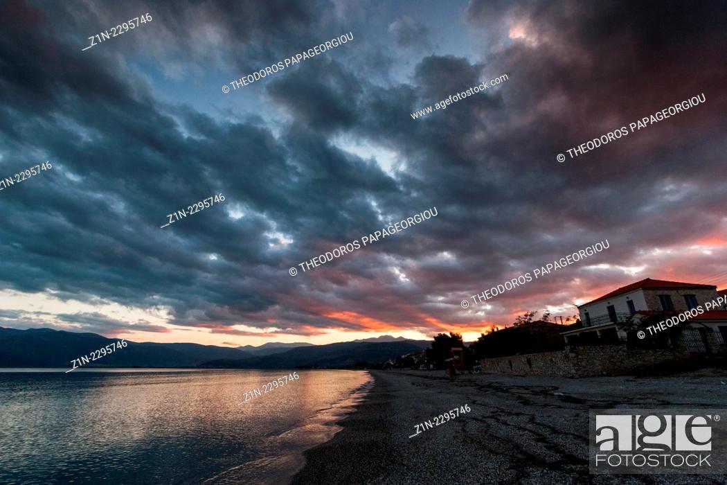 Stock Photo: Astros village. Arcadia, Peloponnese, Greece.