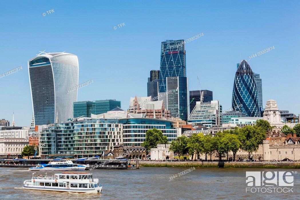 Imagen: England, London, City Skyline and Thames River.