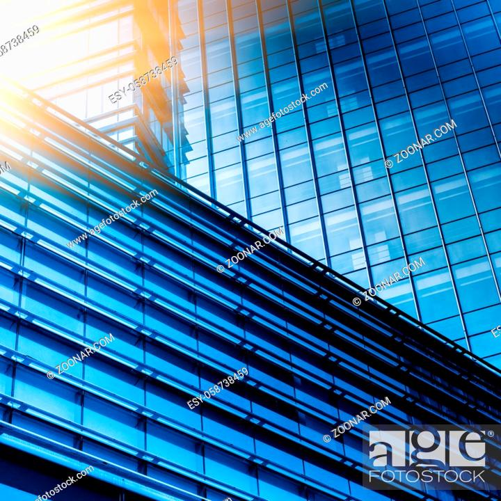 Stock Photo: detail glass building background.