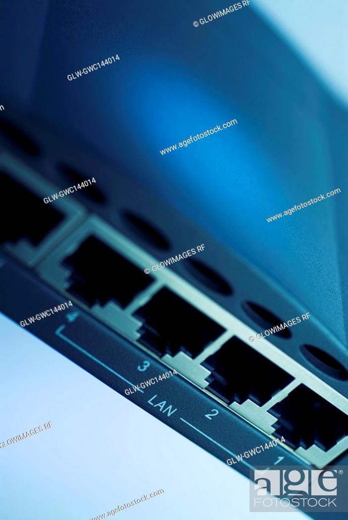Stock Photo: Close-up of a modem.