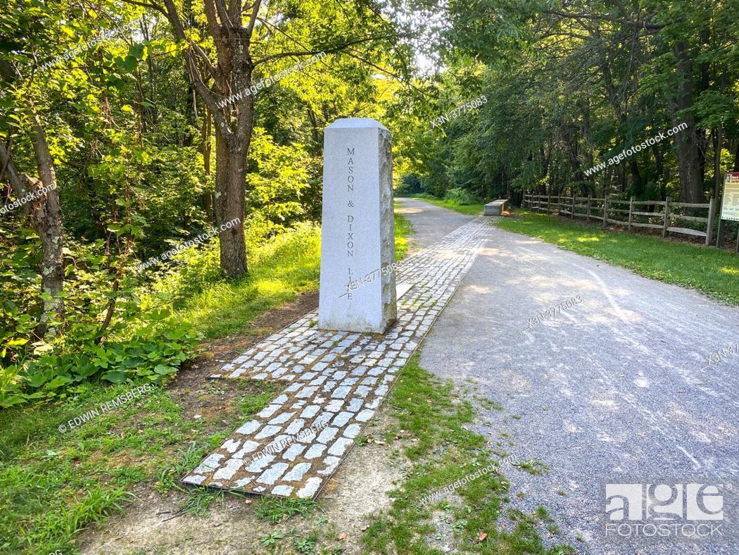 Stock Photo: Great Allegheny Passage ( GAP ) bike trail.