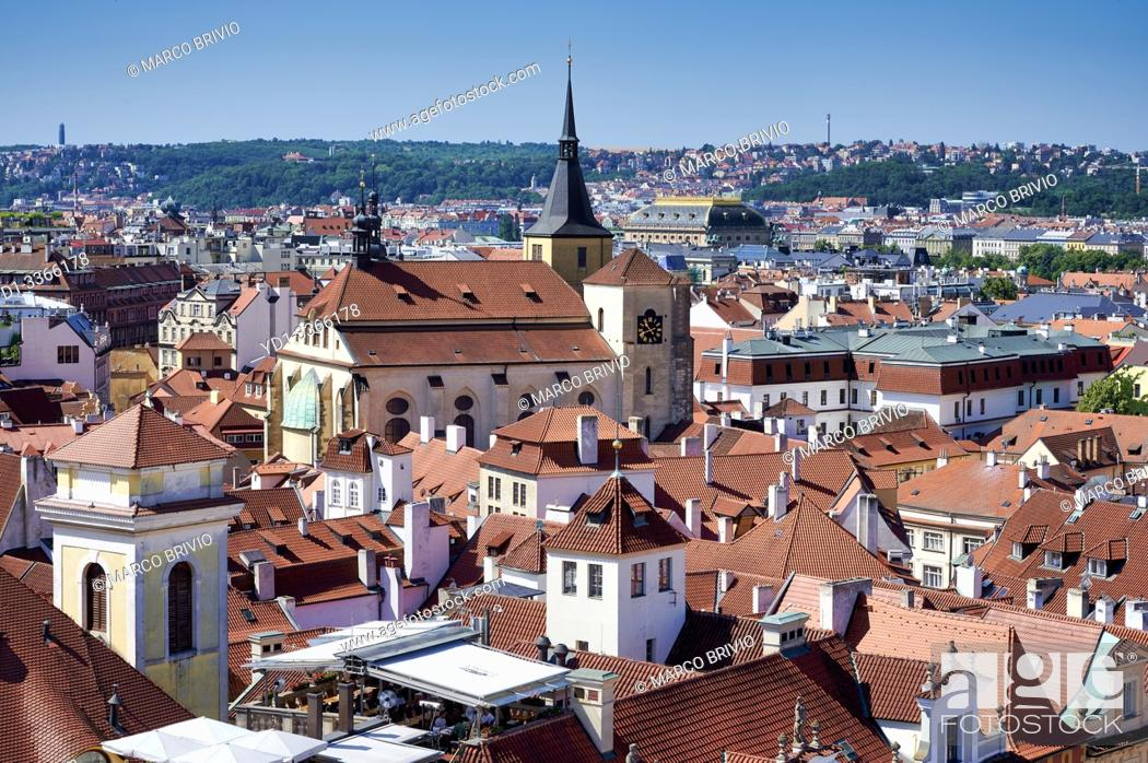 Stock Photo: Prague Czech Republic. Aerial view of the old town.