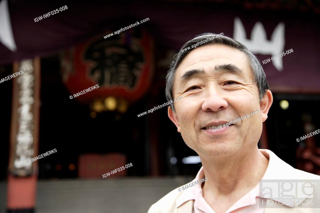 Stock Photo: Portrait of a smiling senior man.