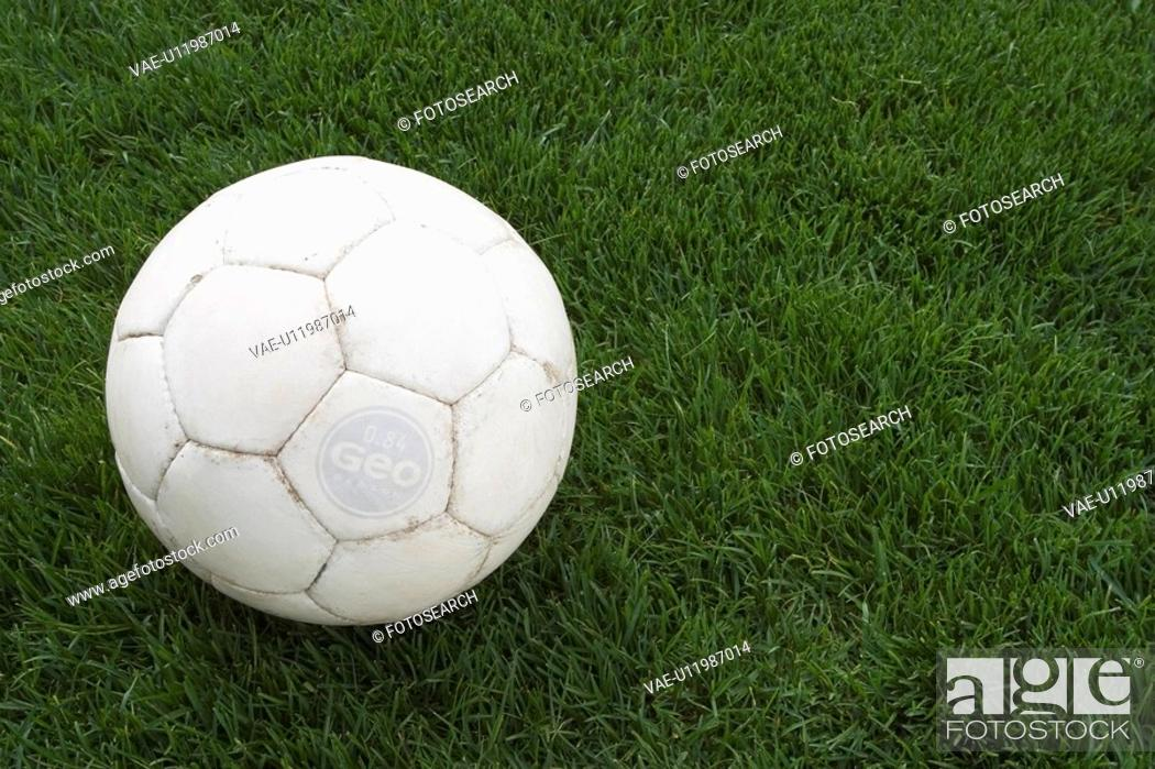 Stock Photo: Ball, Close-Up, Day, Football, Game.