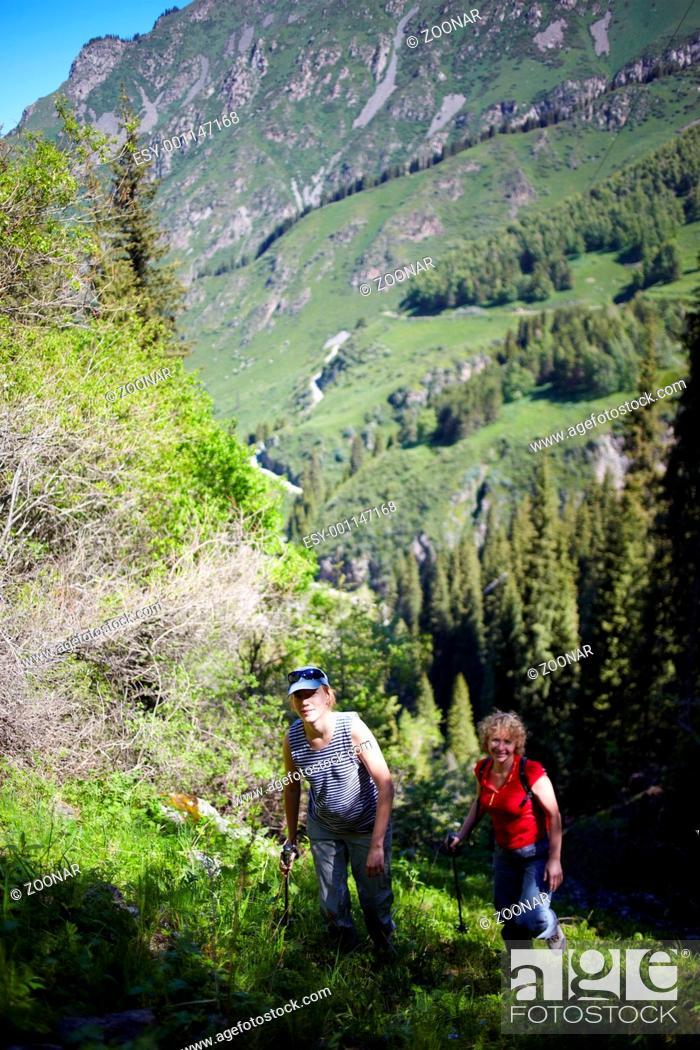 Stock Photo: Hiking.