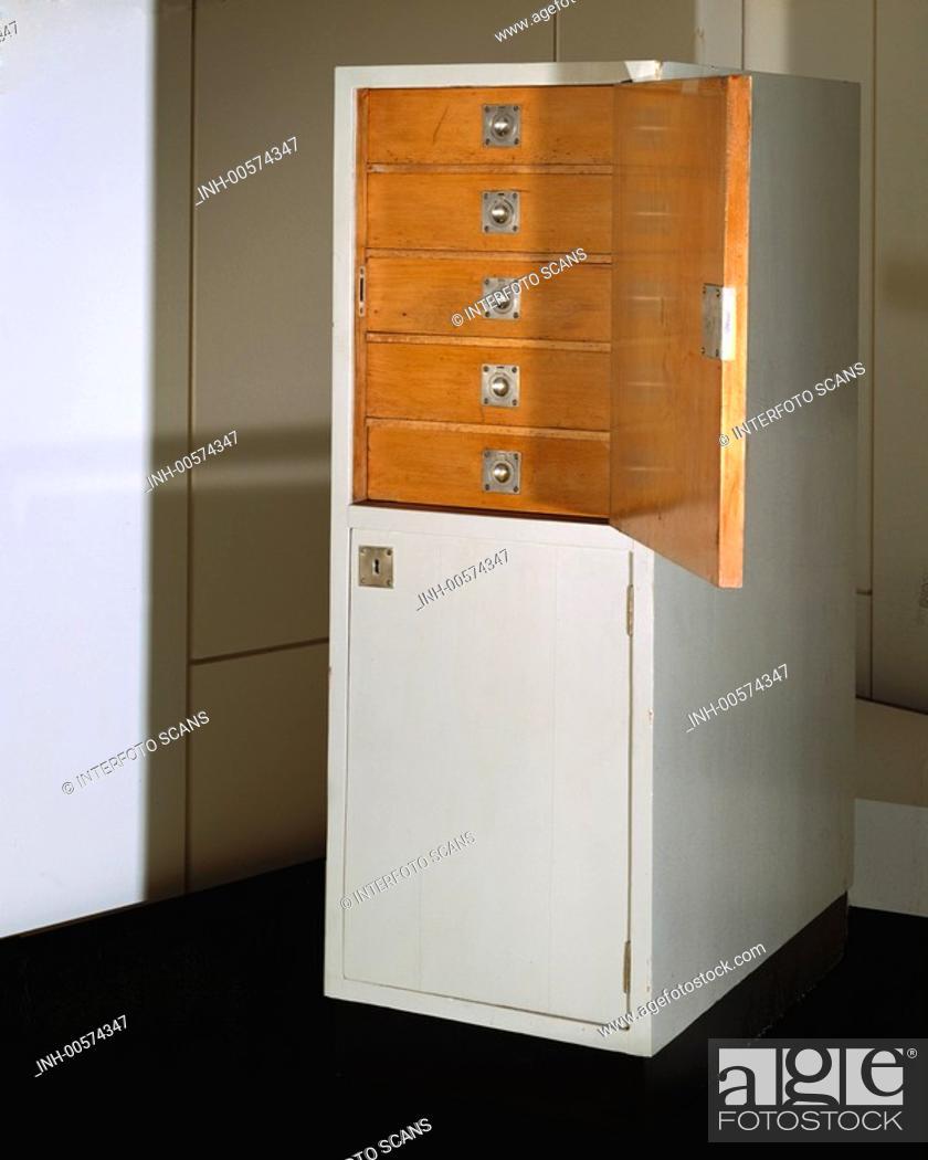 jugendstil lampen m bel josef hoffmann schrank um 1905. Black Bedroom Furniture Sets. Home Design Ideas