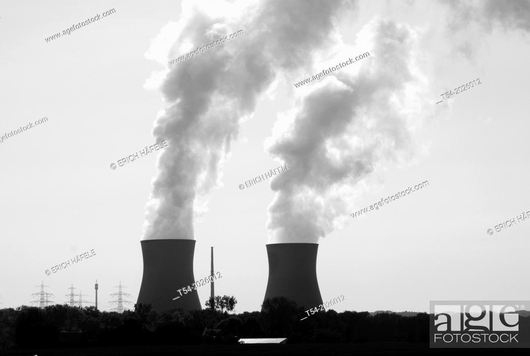 Stock Photo: Nuclear power plant Gundremmingen.