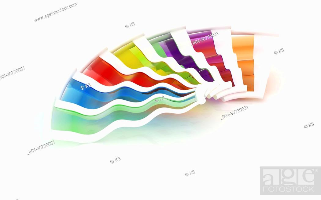 Stock Photo: Multicolored color swatch.