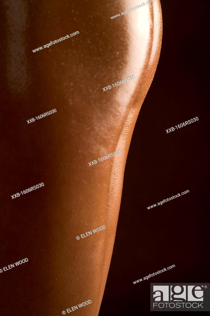 Stock Photo: close-up of thigh.