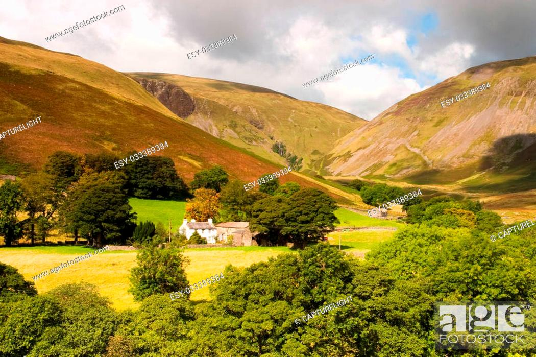 Stock Photo: Landscape near Sedbergh - Sedbergh - town in Yorshire Dales National Park.