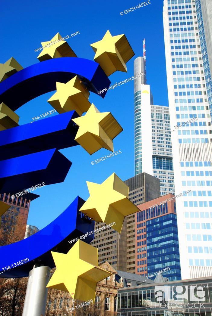 Stock Photo: European Central Bank in Frankfurt / Main.