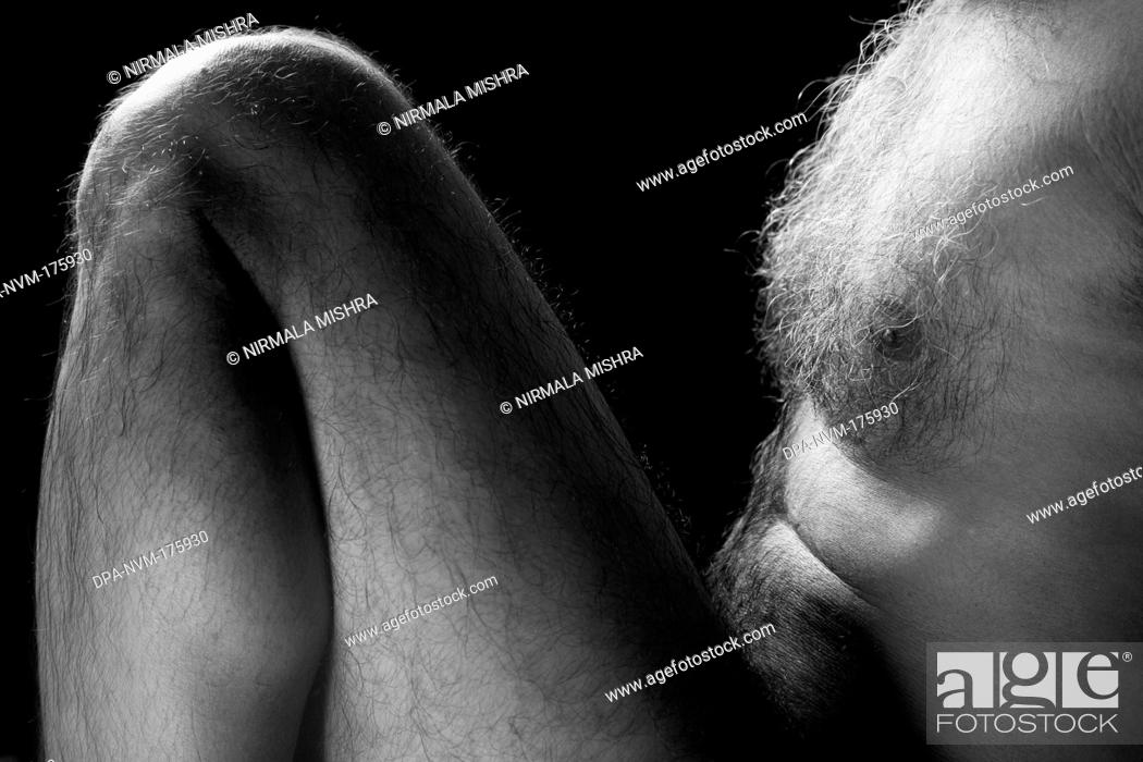 Stock Photo: Human form abstract body part  ; India MR201 23-October-2009.