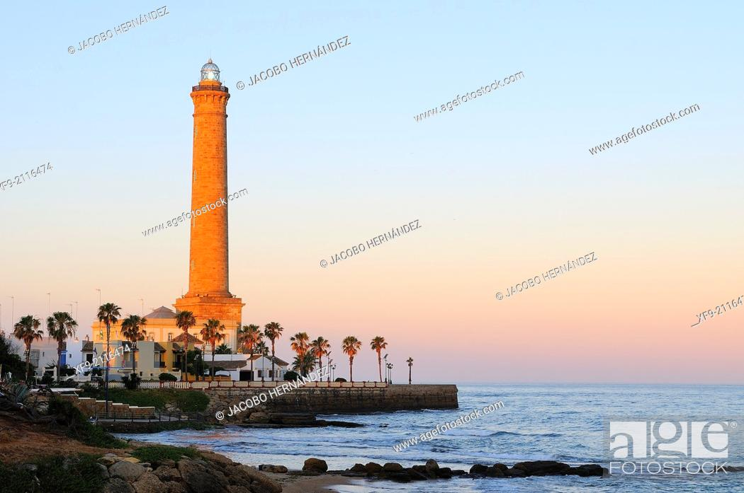 Stock Photo: Lighthouse of Chipiona.Cádiz province.Andalusia.Spain.