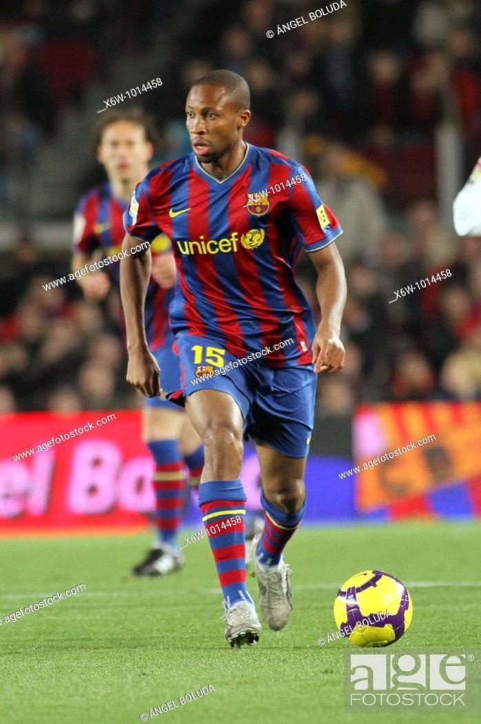 Stock Photo: Barcelona, Camp Nou Stadium, FC Barcelona, Seydou Keita, 2010.