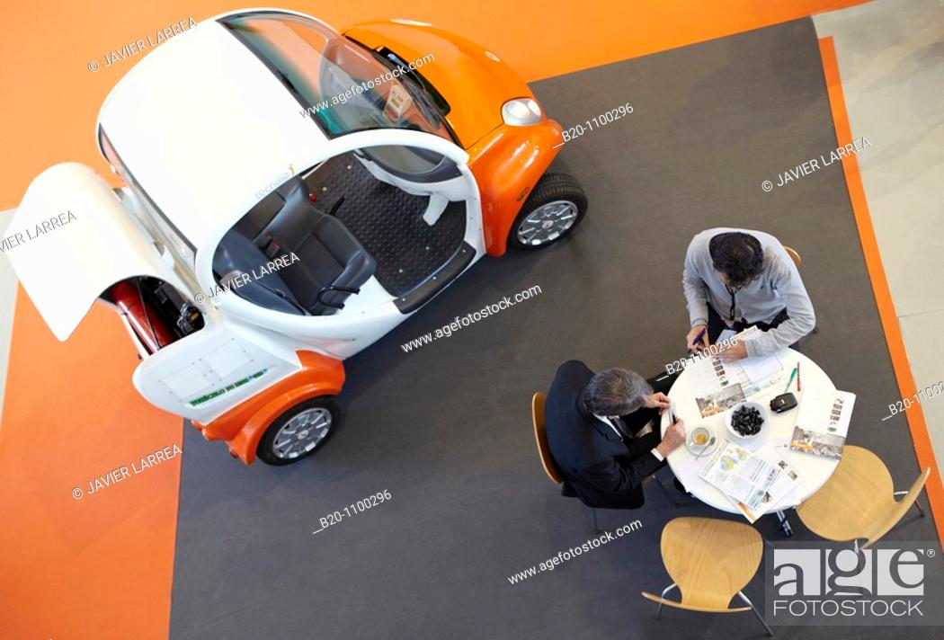 Stock Photo: H2 Car, hydrogen vehicle, Plugintek connection between Business and Technology (April 27th - 28th, 2010), Technology Park of San Sebastian, Gipuzkoa.