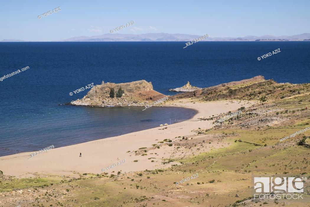 Stock Photo: Peru, Titicaca lake, Taquile island.