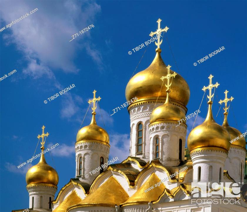 Photo de stock: Russia, Moscow, Kremlin, Cathedral of the Annunciation,.