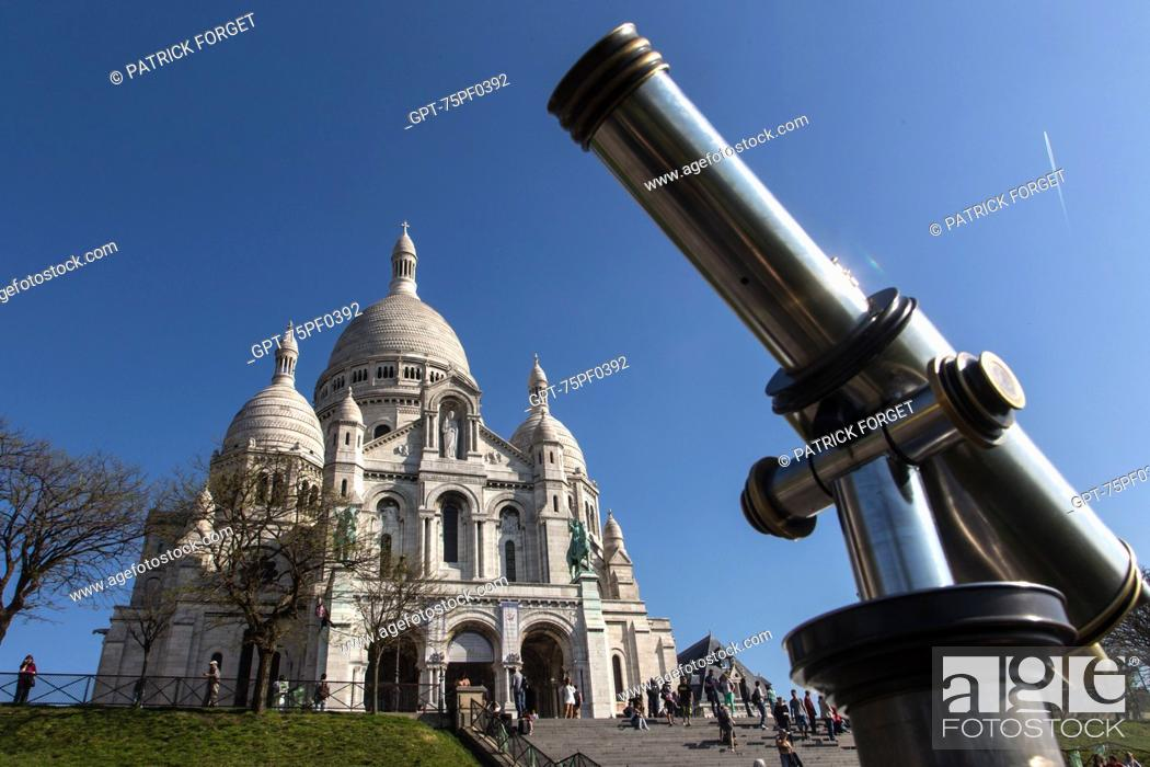 Imagen: LONG VIEW OF THE VIEW POINT FROM THE BASILICA SACRE-COEUR, BUTTE MONTMARTRE, 18TH ARRONDISSEMENT, PARIS, FRANCE,.