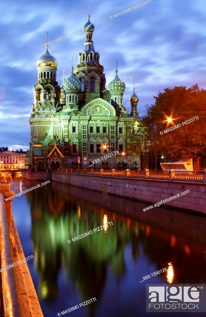 Stock Photo: The Church of the Savior on Blood, also called the Resurrection church, Saint Petersburg, Russia.