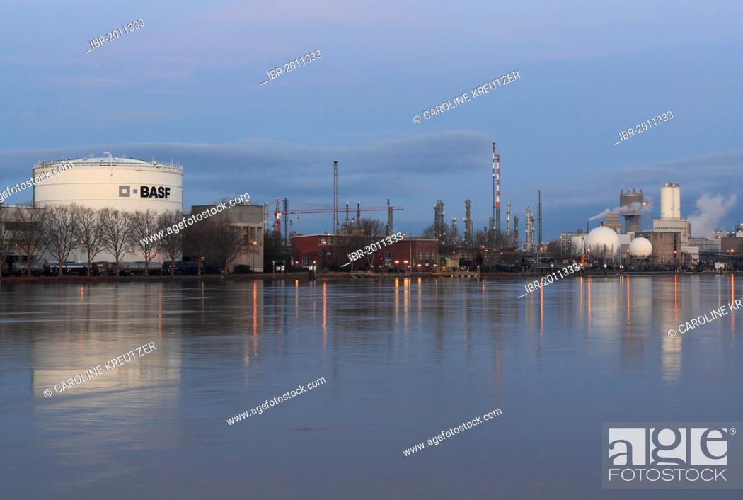 BASF premises on the Rhine river in Ludwigshafen am Rhein