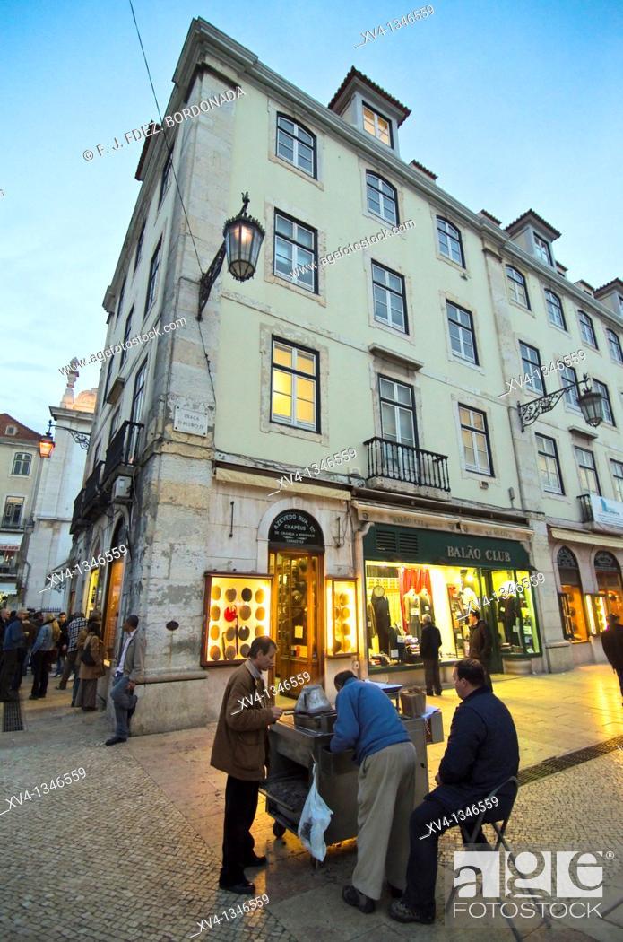 Stock Photo: Figueira Square, Lisbon, Portugal.