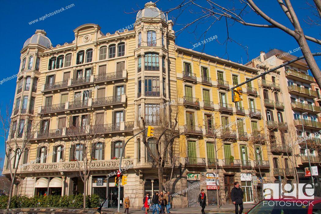 Imagen: House 'CASA EULÀLIA ARTÉS DE MAYOLAS', built in 1897-1898, by Salvador Viñals Sabaté, eclectic design, on Barcelona, Passeig de Sant Joan, 84 bis, Spain, Europe.