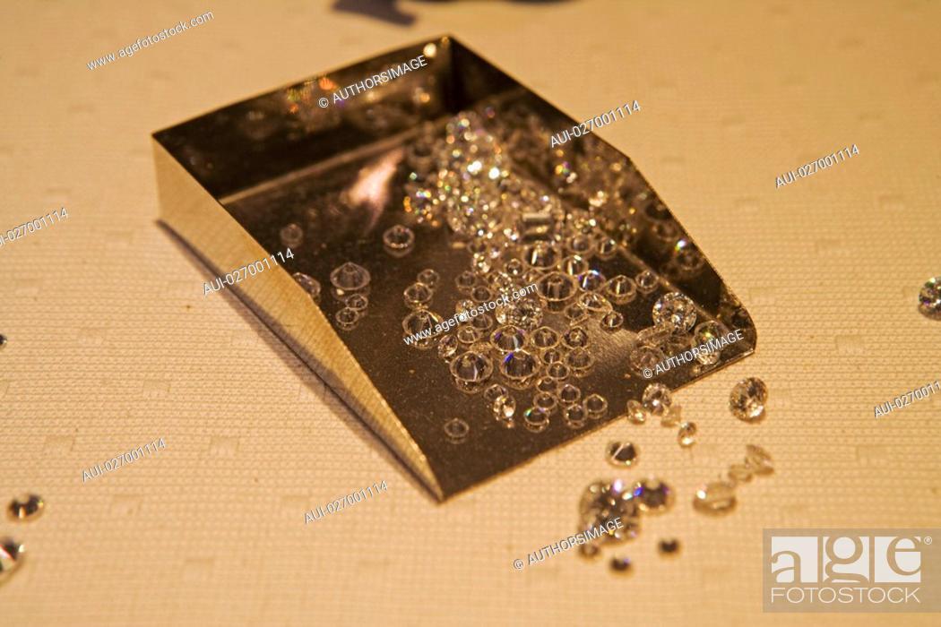 Stock Photo: Belgium - Flanders - Antwerp - Diamondland - Exhibition center - Diamonds.