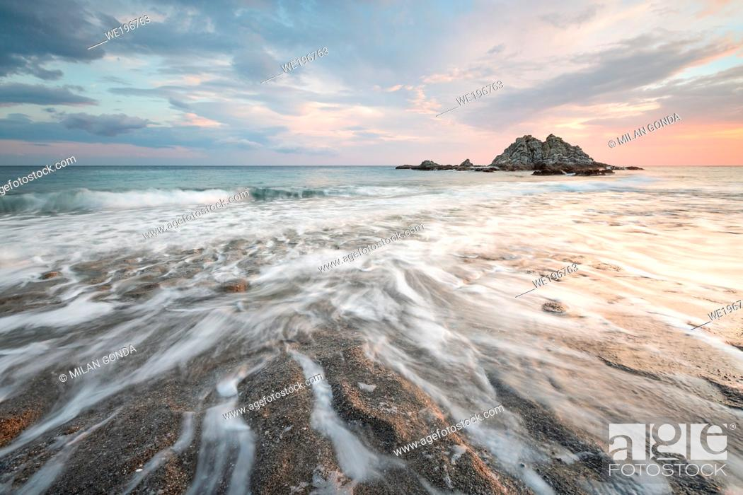 Stock Photo: Sea stack at Sidonia village in southern Crete.