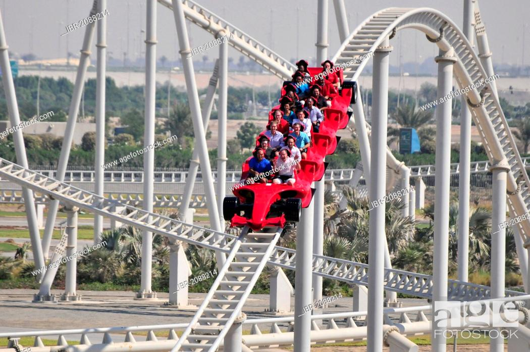 The Fastest Roller Coaster In The World At 240 Mph Ferrari World On Yas Island Abu Dhabi Stock Photo Picture And Rights Managed Image Pic Ibr 2088214 Agefotostock