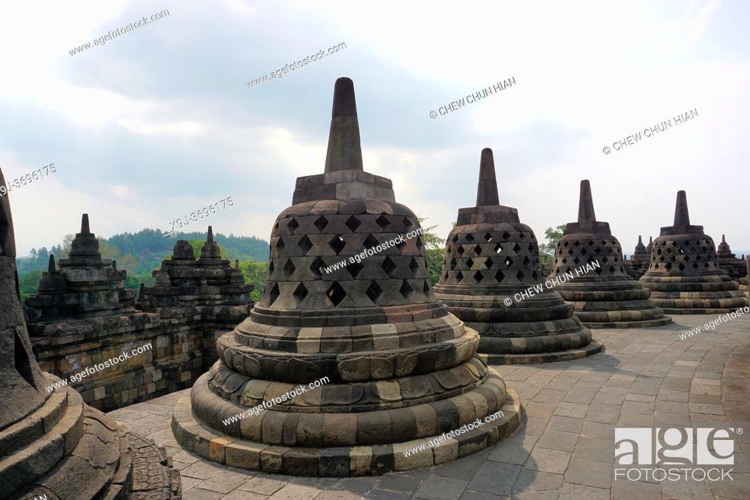 Stock Photo: Buddhist temple of Borobudur in Yogyakarta, Java, Indonesia.