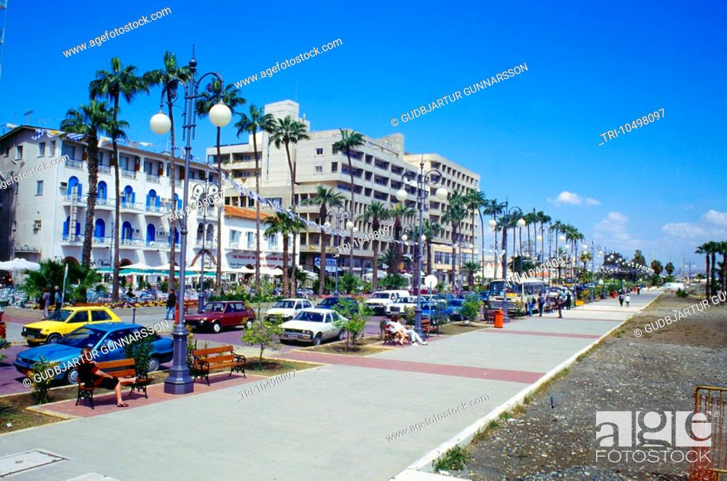 Larnaca Cyprus Promenade Beach Stock Photo Picture And Rights Managed Image Pic Tri 10498097 Agefotostock