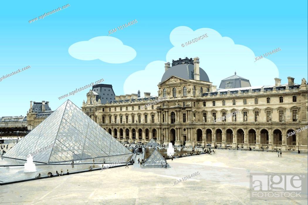 Stock Photo: France, Paris, Louvre, Capital Cities.