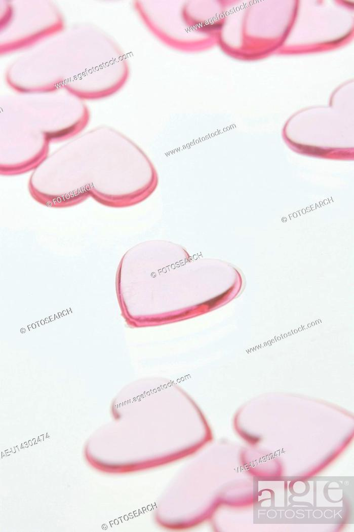 Stock Photo: Close-Up, Heart Shape, Indoors, Large Group Of Objects.