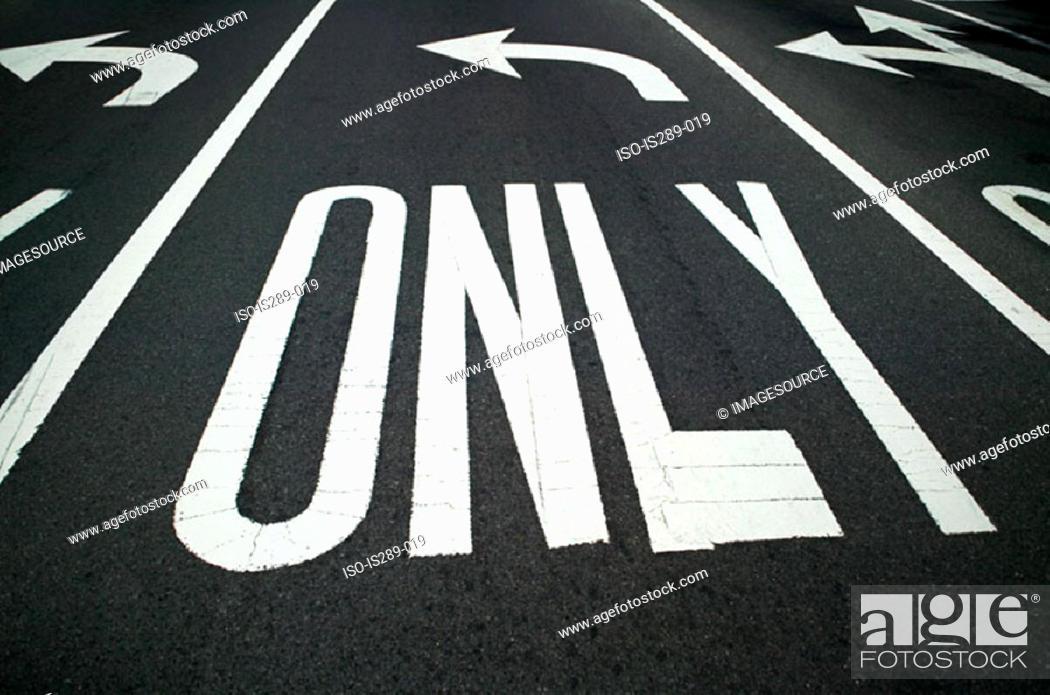 Stock Photo: Road markings.