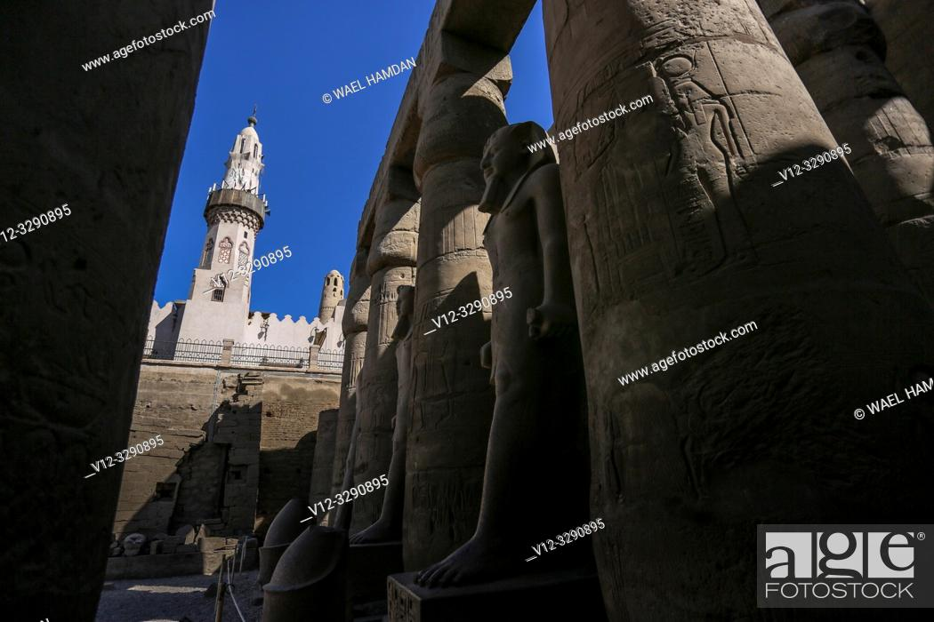 Stock Photo: Luxor temple, Luxor city, Egypt.