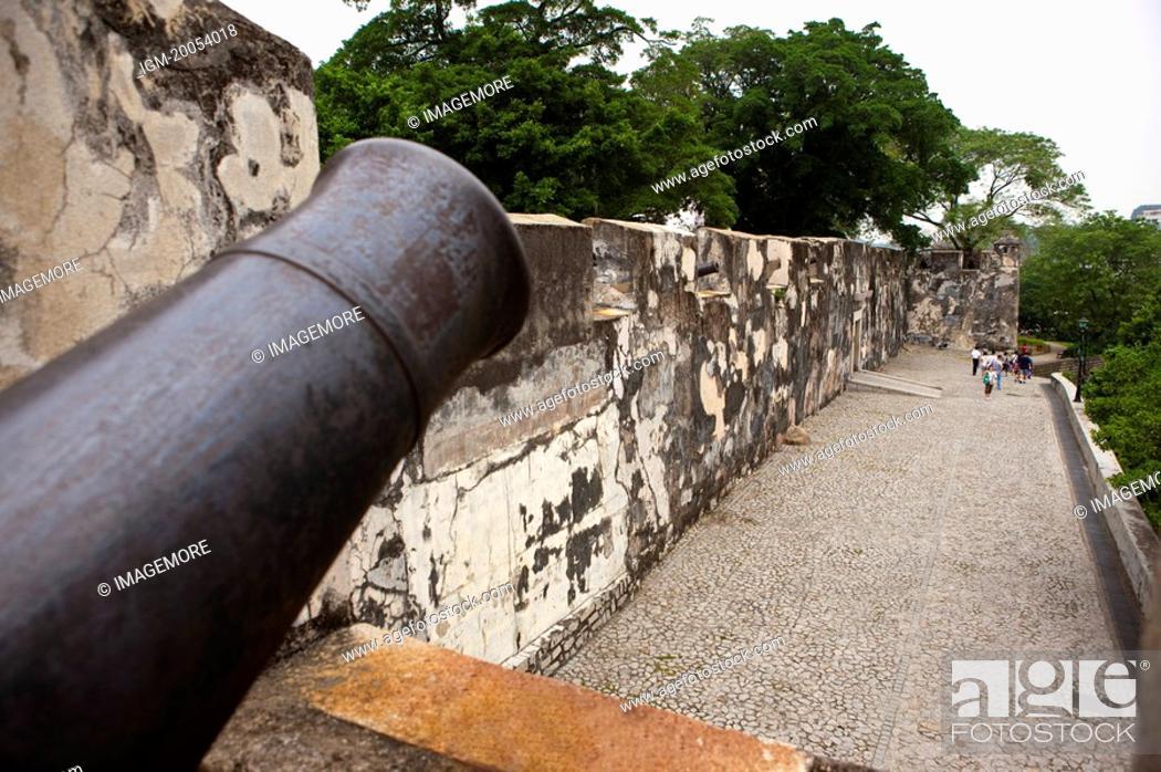 Stock Photo: China, Macou, Mount Fortress.
