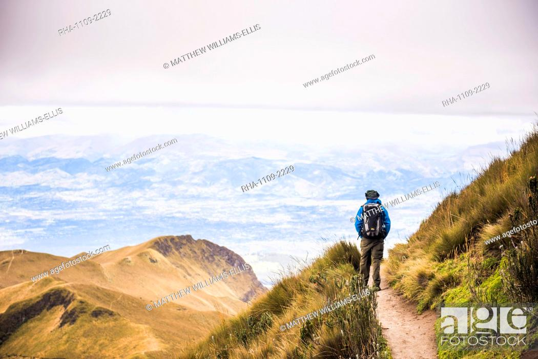 Stock Photo: Rucu Pichincha Volcano trek, Quito, Pichincha Province, Ecuador, South America, South America.