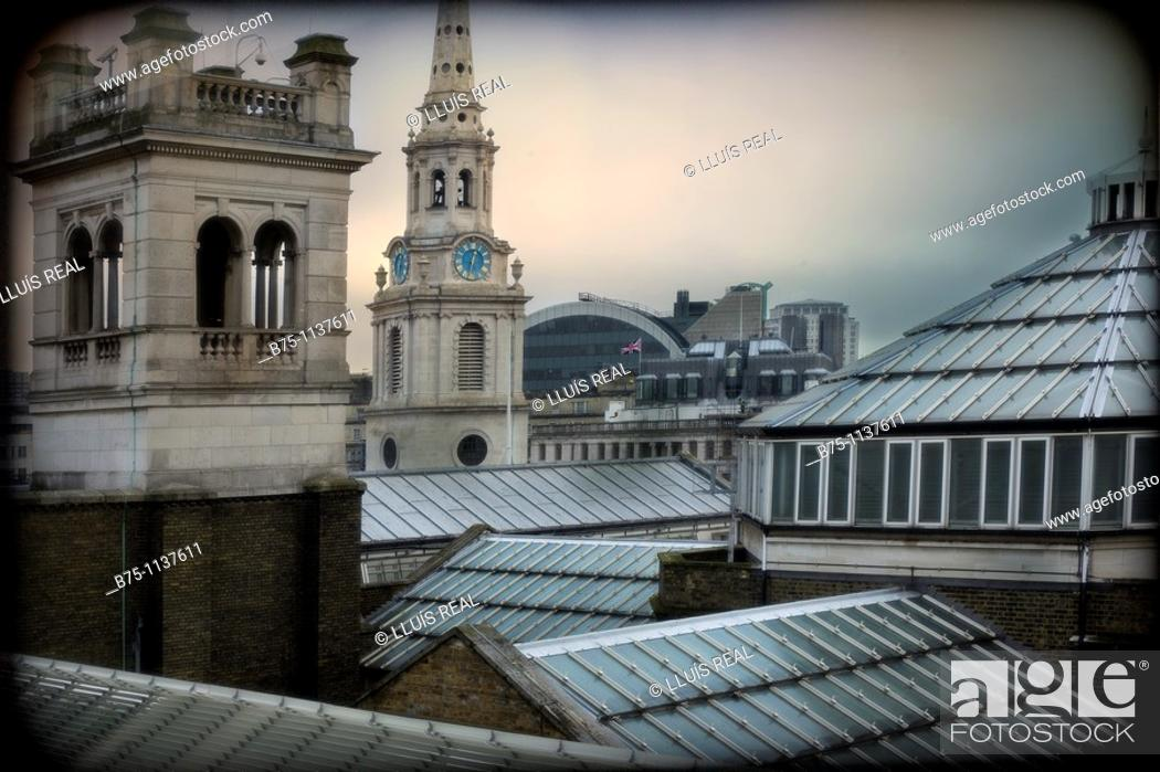 Stock Photo: London, roofs.